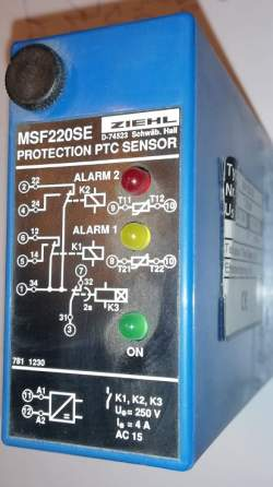 MSF220SE - PTC-Resistor-Relay, for Dry-Transformers , 2 PTC-circuits .. cena na dotaz / price on request