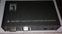 AVE-9201 1-port Cat. 5 Audio/Video Broadcaster